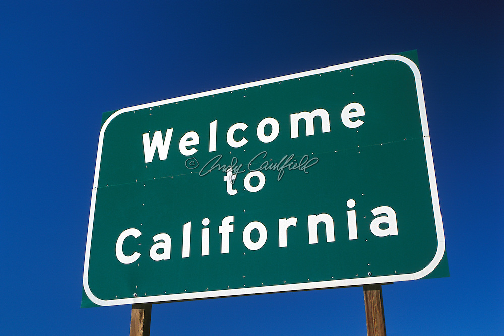 Welcome sign-California USA