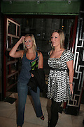 Lianne Wilson and Sarah Leslie, Cast change for Wicked. Apollo Victoria theatre. After party at Park Plaza Victoria. 12 April 2007.  -DO NOT ARCHIVE-© Copyright Photograph by Dafydd Jones. 248 Clapham Rd. London SW9 0PZ. Tel 0207 820 0771. www.dafjones.com.