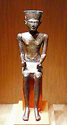 Statuette of Amun. Third Intermediate Period 21-22 Dynasty Egypt, ca. 1070–712 B.C. Cupreous alloy, precious metals