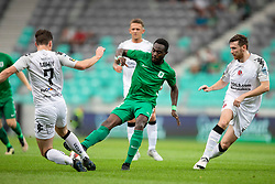 Kingsley Boateng of NK Olimpija Ljubljana during 1st Leg football match between NK Olimpija Ljubljana and FC Crausaders in 2nd Qualifying Round of UEFA Europa League 2018/19, on July 26, 2018 in SRC Stozice, Ljubljana, Slovenia. Photo by Urban Urbanc / Sportida