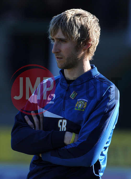 Yeovil Town's Physio Simon Baker - Photo mandatory by-line: Harry Trump/JMP - Mobile: 07966 386802 - 07/03/15 - SPORT - Football - Sky Bet League One - Yeovil Town v Oldham Athletic - Huish Park, Yeovil, England.