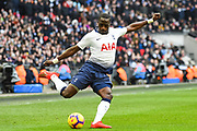 Tottenham Hotspur Midfielder Moussa Sissoko (17) in action during the Premier League match between Tottenham Hotspur and Newcastle United at Wembley Stadium, London, England on 2 February 2019.