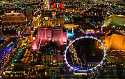 "View of the Las Vegas ""Strip"" with High Roller taken from a Maverick Helicopter."