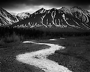 Quill Creek meanders near Haines Junction