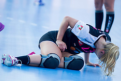 Polona Baric #23 of RK Krim Mercator injured during handball match between RK Krim Mercator vs ZRK Zelene doline Zalec of Super Cup 2015, on August 29, 2015 in SRC Marina, Portoroz / Portorose, Slovenia. Photo by Urban Urbanc / Sportida