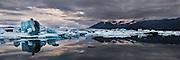 Jökulsárlón lagoon in Iceland.