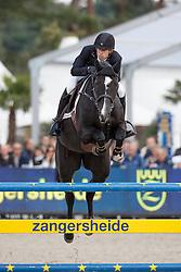 Biessen Ivo, (NED), Scenletha <br /> 5 years of age<br /> FEI World Breeding Jumping Championships<br /> Lanaken 2015<br /> © Hippo Foto - Dirk Caremans<br /> 20/09/15