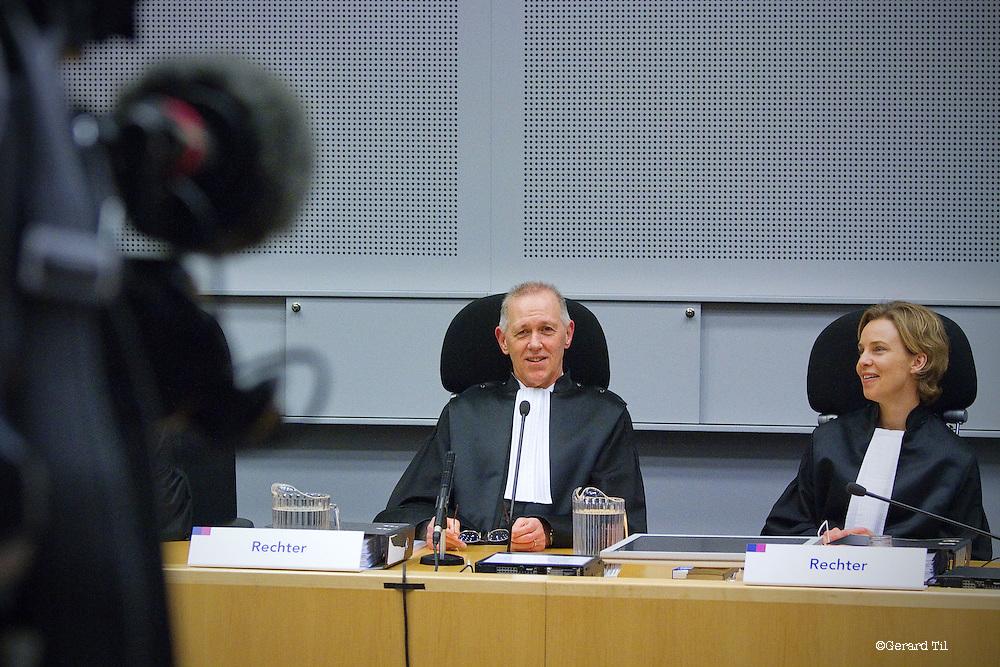 Nederland, Haarlem,22-01-2012 Vonnis in Klimop Vastgoed fraudezaak.  De rechtbank met voorzitter Verpalen. FOTO: Gerard Til. FOTO: Gerard Til