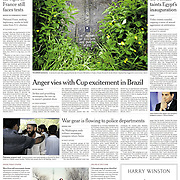 "Tearsheet (Front page) of ""Tuam Children's Grave Yard"" published in The New York Times"