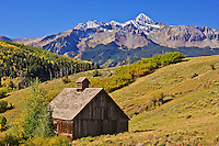 This old barn is found along the Last Dollar Road below Wilson peak near Telluride, CO.