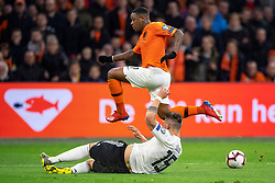 24-03-2019 NED: UEFA Euro 2020 qualification Netherlands - Germany, Amsterdam<br /> Netherlands lost the match 3-2 in the last minute / Steven Bergwijn #7 of The Netherlands, Niklas Sule #15 of Germany