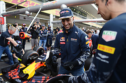 Daniel Ricciardo (AUS) Red Bull Racing practices pit stops with the team.<br /> 27.10.2016. Formula 1 World Championship, Rd 19, Mexican Grand Prix, Mexico City, Mexico, Preparation Day.<br />  <br /> / 271016 / action press