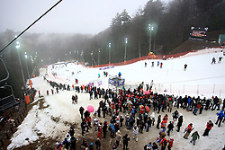06.01.2013, Crveni Spust, Zagreb, CRO, FIS Ski Alpin Weltcup, Slalom, Herren, Kursbesichtigung, im Bild Uebersicht // Overview of the course // before the mens Slalom of the FIS ski alpine world cup at Crveni Spust course in Zagreb, Croatia on 2013/01/06. EXPA Pictures © 2013, PhotoCredit: EXPA/ Pixsell/ Borna Filic..***** ATTENTION - for AUT, SLO, SUI, ITA, FRA only *****