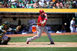 OAKLAND, CA - JUNE 21:  Albert Pujols #5 of the Los Angeles Angels of Anaheim at bat against the Oakland Athletics during the third inning at O.co Coliseum on June 21, 2015 in Oakland, California. The Oakland Athletics defeated the Los Angeles Angels of Anaheim 3-2. (Photo by Jason O. Watson/Getty Images) *** Local Caption *** Albert Pujols