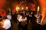 New Year's Eve party in cave at Clos Pegase Winery, Napa Valley, CA.