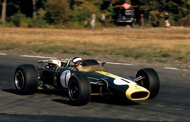 Jim Clark in winning Lotus with H16 BRM engine, US Grand Prix at Watkins Glen 1966
