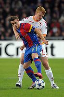 Romas John Arne Riise gegen Basels Xherdan Shaqiri (Roman Aeschbach/EQ Images)