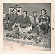 Keith Crowley's Father (second from left) and Uncle Richard (right) following a pheasant hunt in November 1959.