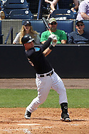 March 18, 2018 - Tampa, FL, U.S. - TAMPA, FL - MAR 18: Tyler Austin (26) of the Yankees at bat during the game between the Miami Marlins and the New York Yankees on March 18, 2018, at George M. Steinbrenner Field in Tampa, FL. (Photo by Cliff Welch/Icon Sportswire) (Credit Image: © Cliff Welch/Icon SMI via ZUMA Press)