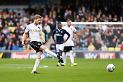 Leeds United midfielder Eunan O'Kane (14) during the EFL Sky Bet Championship match between Millwall and Leeds United at The Den, London, England on 16 September 2017. Photo by David Charbit.