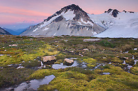 Twilight over Mount Ethelweard 2819 m (9249 ft), Coast Mountains British Columbia Canada