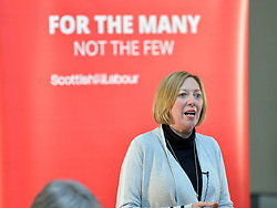 Pictured: Scottish Labour deputy leader Lesley Laird speaks at the lunch.<br /> <br /> Labour leader Jeremy Corbyn travelled to Scotland to attend a festive lunch for homeless charities and volunteers in Edinburgh on Sunday, along with Scottish Labour leader Richard Leonard.<br /> <br /> &copy; Dave Johnston / EEm
