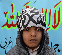 61022941<br /> A boy attends the Kashmir Solidarity Day rally in southwest Pakistan's Quetta on Feb. 5, 2014. Pakistani Prime Minister Nawaz Sharif Wednesday invited India for useful talks to peacefully resolve the longstanding dispute over Kashmir, Wednesday, 5th February 2014. Picture by  imago / i-Images<br /> UK ONLY