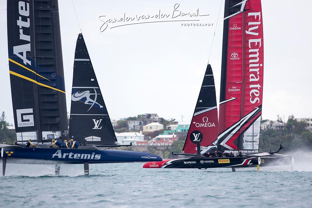 Louis Vuitton America's Cup Finals. Artemis Racing vs Emirates Team New Zealand. 2-4. 11th of June, 2017, Bermuda