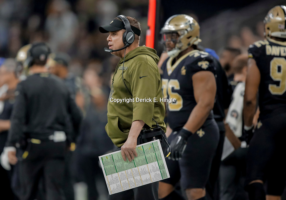Dec 23, 2018; New Orleans, LA, USA; New Orleans Saints head coach Sean Payton against the Pittsburgh Steelers during the second quarter at the Mercedes-Benz Superdome. Mandatory Credit: Derick E. Hingle-USA TODAY Sports