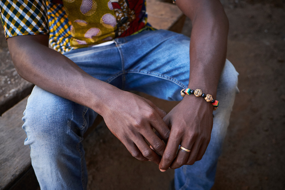 Mohamed Camara after being tested for HIV at the MSF mobile clinic in the neighbourhood of Sangoyah Market, Conakry, Guinea on March 17, 2016. MSF launched a HIV testing campaign in Conakry with the support of health authorities moving throughout several neighbourhoods throughout 2016.<br /> <br /> &quot;I received information from the community health workers who told me that there was a clinic here. It&rsquo;s the first time that I&rsquo;ve been tested, I was scared to come but when I did was convinced during the pre-test awareness session that there were was no problem. What I knew of AIDS before was that you contracted it only through having sex, it&rsquo;s now that I understand there are many ways of contracting AIDS. I am very content with the results I received today I&rsquo;ll speak straight away with my friends to come and have a test.&quot;<br /> <br /> Despite countries in West and Central Africa having a relatively low HIV prevalence (
