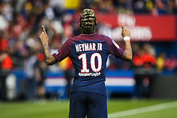 September 30, 2017 - Paris, France - Paris Saint-Germain's Brazilian forward Neymar celebrates during the French L1 football match between Paris Saint-Germain and Bordeaux at the Parc des Princes stadium in Paris on September 30, 2017. (Credit Image: © Geoffroy Van Der Hasselt/NurPhoto via ZUMA Press)