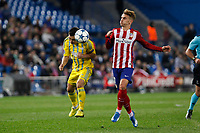 Atletico de Madrid´s Antoine Griezmann (R) Champions League soccer match between Atletico de Madrid and FC Astana at Vicente Calderon stadium in Madrid, Spain. October 21, 2015. (ALTERPHOTOS/Victor Blanco)