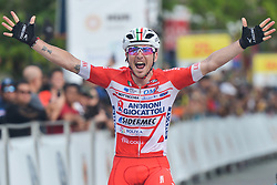 March 24, 2018 - Muar, Malaysia - Italian cyclist Manuel Belletti (Left) from Androni Giocattoli Sidermec Team wins the seventh stage, the 222.4 km from Nilai to Muar, of the 2018 Le Tour de Langkawi. .On Saturday, March 24, 2018, in Muar, Malaysia. (Credit Image: © Artur Widak/NurPhoto via ZUMA Press)