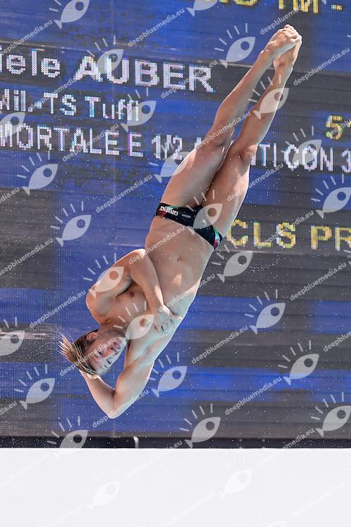 AUBER Gabriele Marina Militare CS Nuoto<br /> 1m springboard trampolino men preliminary<br /> Stadio del Nuoto, Roma<br /> FIN 2016 Campionati Italiani Open Assoluti Tuffi<br /> <br /> day 02 21-06-2016<br /> Photo Giorgio Scala/Deepbluemedia/Insidefoto