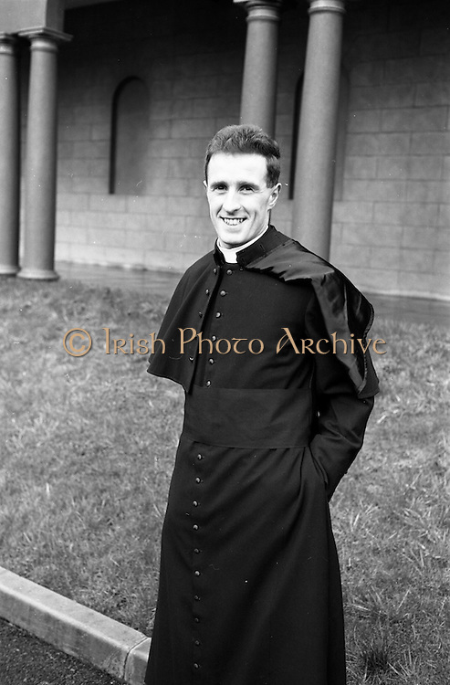 14/03/1964<br /> 03/14/1964<br /> 14 March 1964<br /> Ordination of Fr. Donal Sullivan at Holy Cross College (Clonliffe College), Clonliffe Road, Drumcondra, Dublin. Picture shows Fr. Donal Sullivan, C.M., Kenilworth, Ballinacurra, Co. Limerick, after the ordination ceremony.