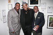 l to r: James Top, Danny Simmons, and Victor Davson at The Rush Philanthropic 2nd Annual Gold Rush Awards Presented by Danny Simmons and Russell Simmons which was held at The Red Bull Space on March 18, 2010 in New York City. Terrence Jennings/Retna..The Gold Rush Awards celebrates and recognizes trailblazers in the Arts Industry who shape contemporary arts and culture across creative disciplines.