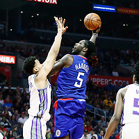 13 January 2018: LA Clippers forward Montrezl Harrell (5) goes for the baby hook during the LA Clippers 126-105 victory over the Sacramento Kings, at the Staples Center, Los Angeles, California, USA.