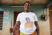 Josephine Akissi Coulibaly, 52, a former FGM/C practitioner, at her home in the town of Katiola, Cote d'Ivoire on Friday July 12, 2013. Josephine abandoned the practice thanks to advocacy work by UNICEF partner organization OIS Afrique.
