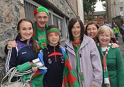 Mayo Fans All Ireland Final day Croke Park, Ellen Malone, Richard Hennelly, Liam Hennelly, Eileen McEvilly, Fiona May and Ann Hennelly.<br />