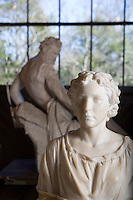 Elizabeth Ney and Prometheus Bound Sculpture at Elizabet Ney Museum, Austin, Texas.