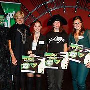 NLD/Scheveningen/20121030 - Uitreiking Talent voor Taal 2012 prijs, Jim Bakkum, Pr. Laurentien en Renee van Wegberg