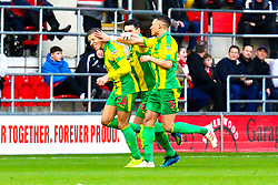 Dwight Gayle of West Bromwich Albion celebrates his opening goal - Mandatory by-line: Ryan Crockett/JMP - 22/12/2018 - FOOTBALL - Aesseal New York Stadium - Rotherham, England - Rotherham United v West Bromwich Albion - Sky Bet Championship
