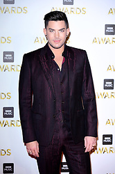 Adam Lambert attending the BBC Music Awards at the Royal Victoria Dock, London. PRESS ASSOCIATION Photo. Picture date: Monday 12th December, 2016. See PA Story SHOWBIZ Music. Photo credit should read: Ian West/PA Wire