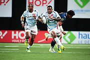 Virimi Vakatawa (Racing 92), Josevata Taliga Rokocoko (Racing 92) during the French championship Top 14 Rugby Union match between Racing 92 and SU Agen on September 8, 2018 at U Arena in Nanterre, France - Photo Stephane Allaman / ProSportsImages / DPPI