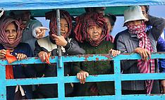 PHnom Pen-Cambodians protest Prime Minister Hun Sen