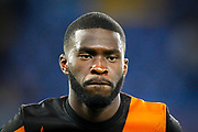 Chelsea defender Fikayo Tomori (29) warming up before the Champions League match between Chelsea and Valencia CF at Stamford Bridge, London, England on 17 September 2019.