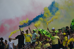 June 2, 2018 - Mugello, FI, Italy - Valentino Rossi Fans during the qualifying  of the Oakley Grand Prix of Italy, at International  Circuit of Mugello, on June 2, 2018 in Mugello, Italy  (Credit Image: © Danilo Di Giovanni/NurPhoto via ZUMA Press)