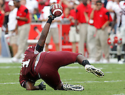 COLUMBIA - SEPTEMBER 11:  Wide receiver Alshon Jeffery #1 of the South Carolina Gamecocks shows that he made a catch during the game against the Georgia Bulldogs at Williams-Brice Stadium on September 11, 2010 in Columbia, South Carolina.  The Gamecocks beat the Bulldogs 17-6.  (Photo by Mike Zarrilli/Getty Images)