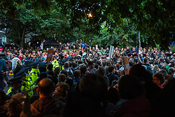 © Licensed to London News Pictures. 07/06/2017. London, UK. Hundreds of supporters await the arrival of Jeremy Corbyn at Union Chapel in Islington. He will speak hold his last rally at Union Chapel before Britain heads to the polls for the General Election. Photo credit: Rob Pinney/LNP