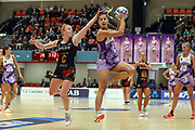 Stars Holly Fowler. ANZ Premiership Netball, Northern Stars v Splice Construction Magic, Bruce Pulman Arena, Auckland, Monday 8th April 2019. Copyright Photo: Shane Wenzlick / www.photosport.nz